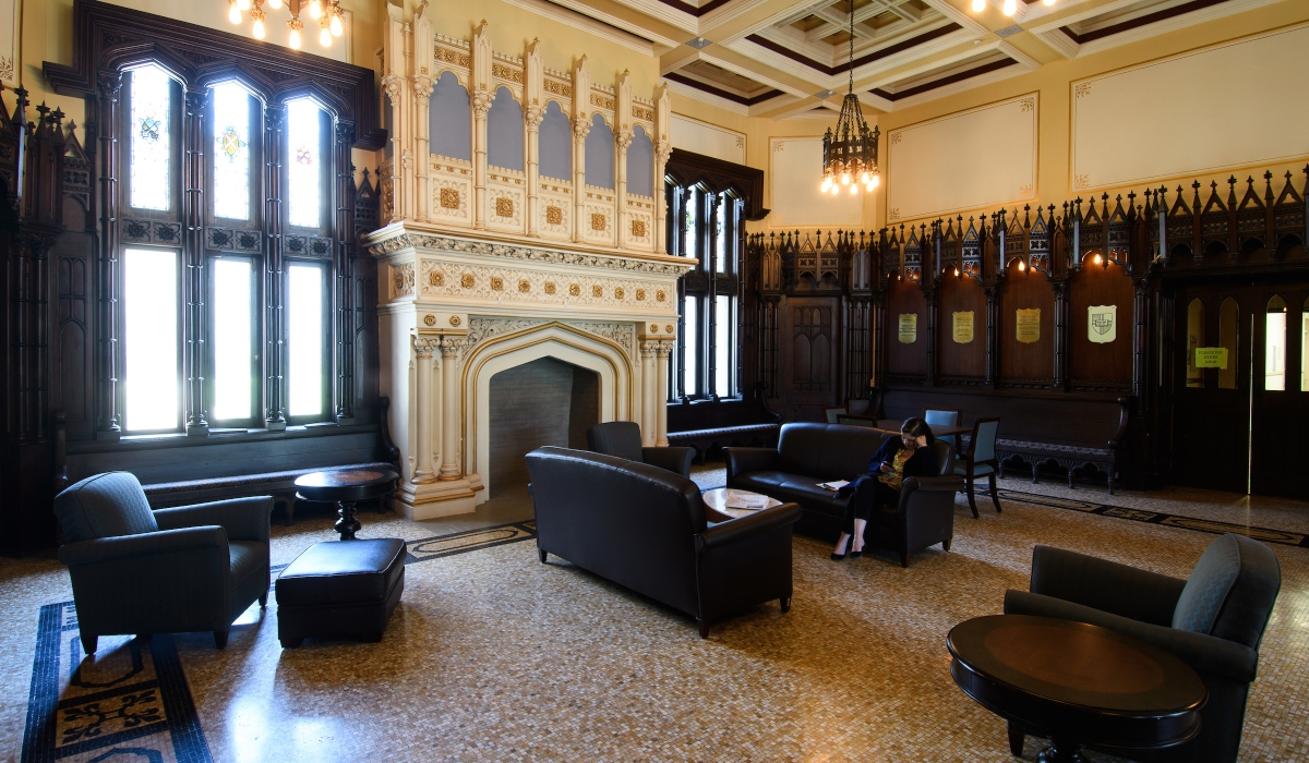 Lobby of Gibbons Hall
